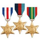 the world war ii campaign stars UK MILM a main