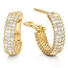 the white hot hoop gold earrings UK WHEG a main