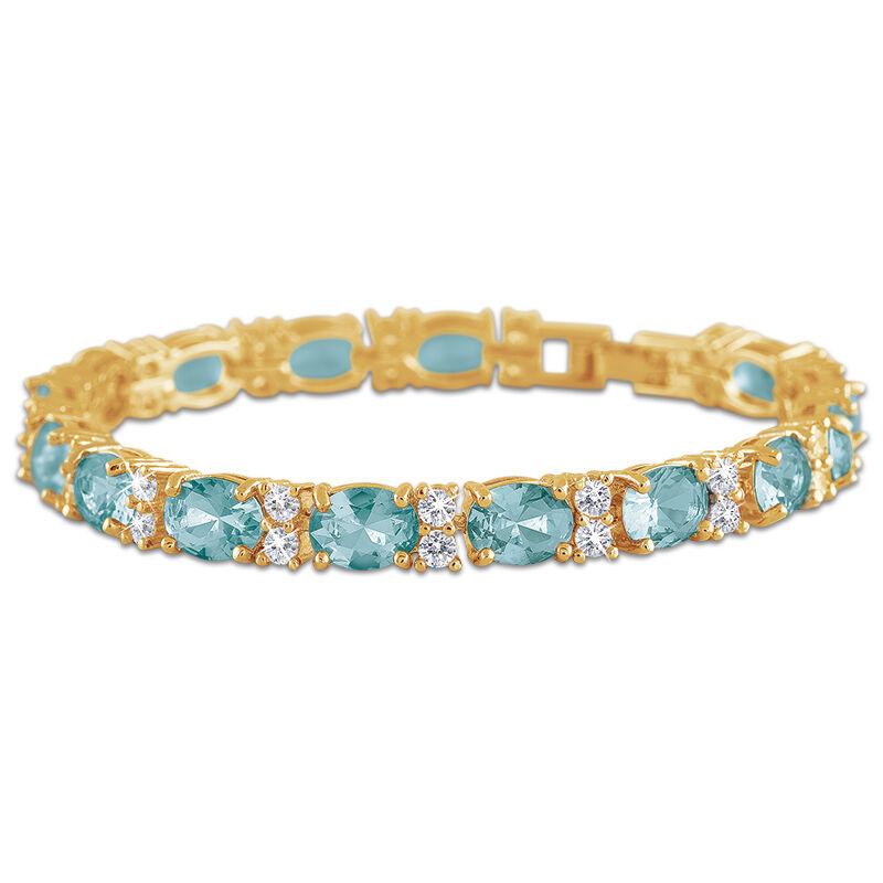birthstone tennis bracelet UK BDTB2 d four