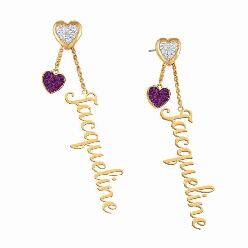 personalised birthstone earrings UK PBEAR m thirteen