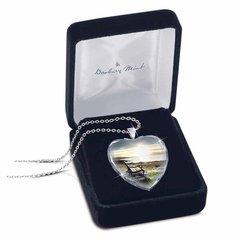 always in my heart crystal pendant UK AIMHP2 c three