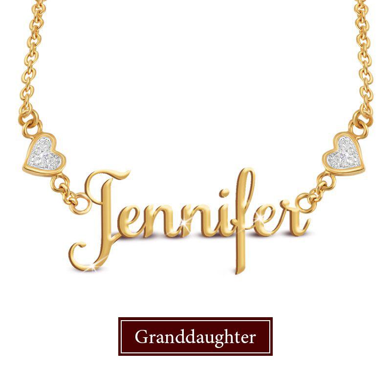 granddaughter personalised name diamond  UK GPSDN a main