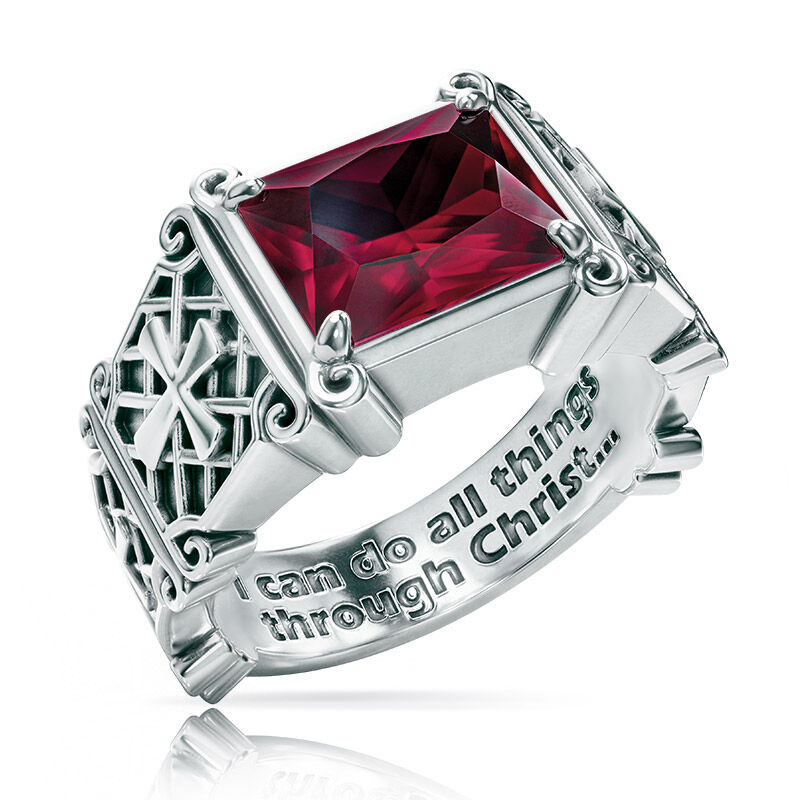 i can do all things birthstone ring UK ICDBR g seven