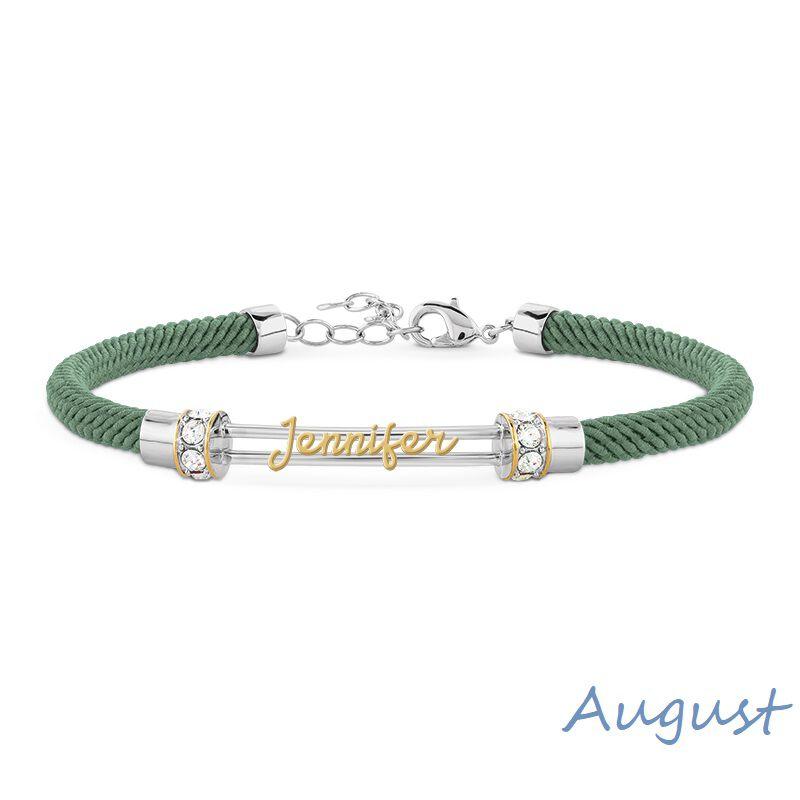personalised birthstone rope bracelet UK PBRB2 i nine