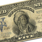 the famous indian chief five dollar silv UK ICSC b two