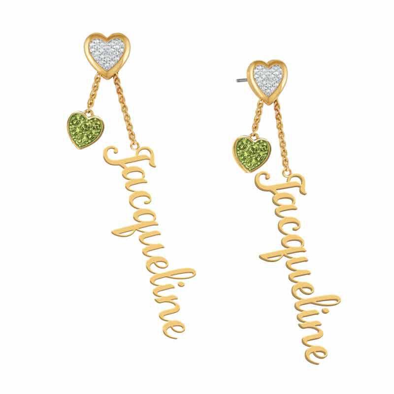 personalised birthstone earrings UK PBEAR g seven