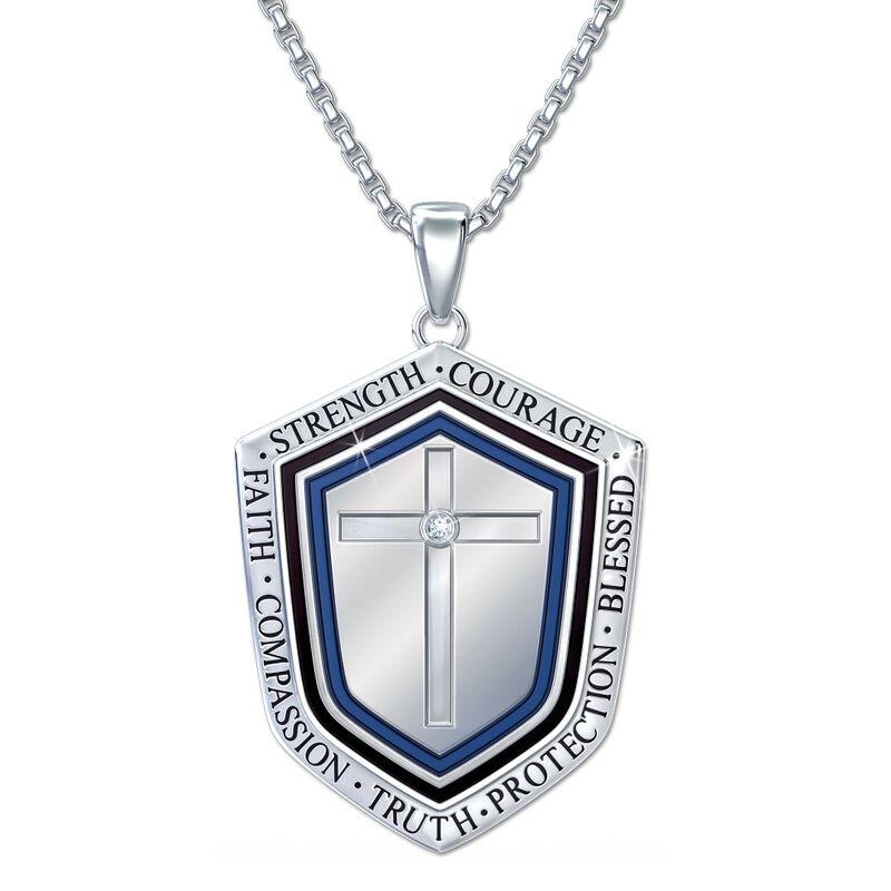 blessed grandson shield pendant UK BLGSP a main