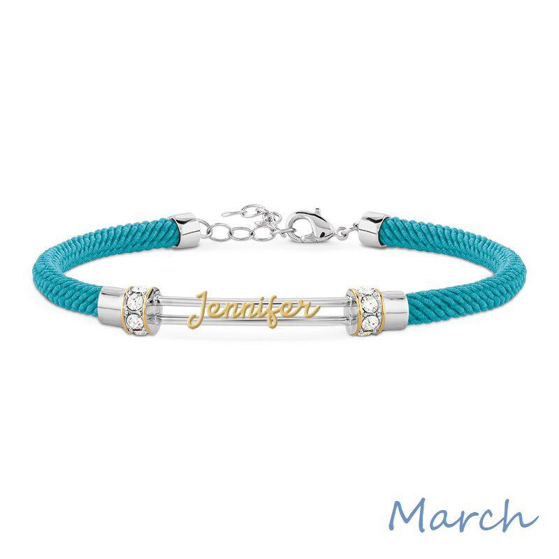 personalised birthstone rope bracelet UK PBRB2 d four
