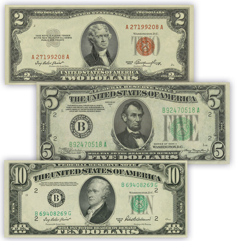 uncirculated united states currency UK UCC b two