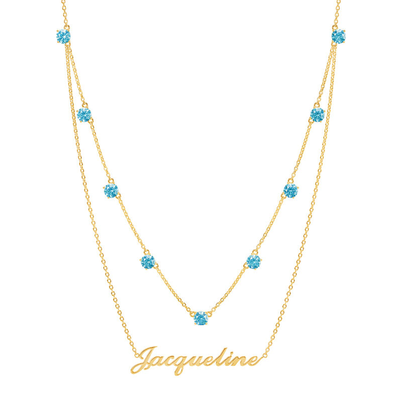 The Birthstone Layered Necklace 6788 001 3 3