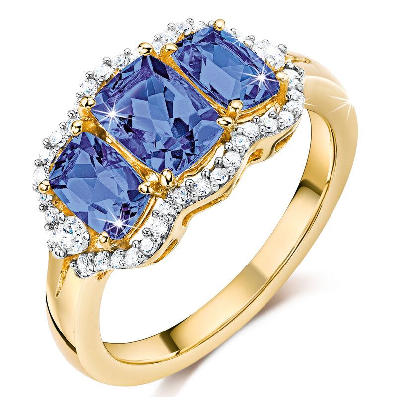 trilogy tanzanite diamond ring UK TDGR a main