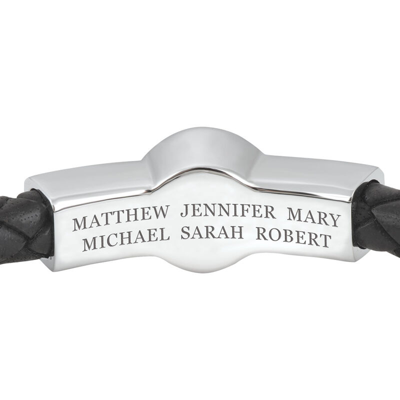mens family forever personalised leather UK MFFPLB b two