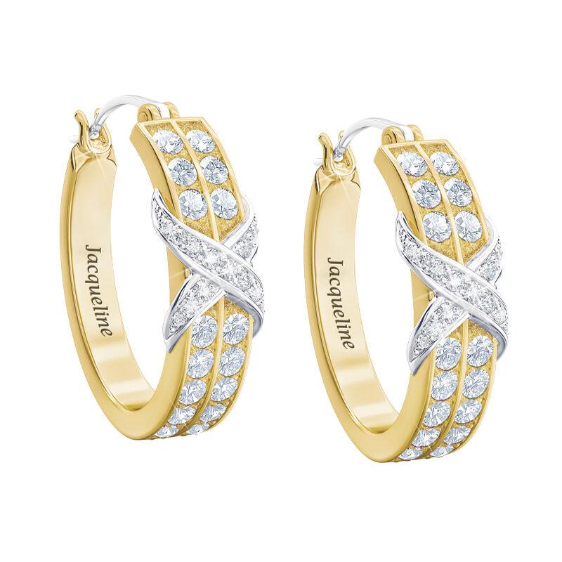 birthstone diamond kiss personalised ear UK BDKPE d four