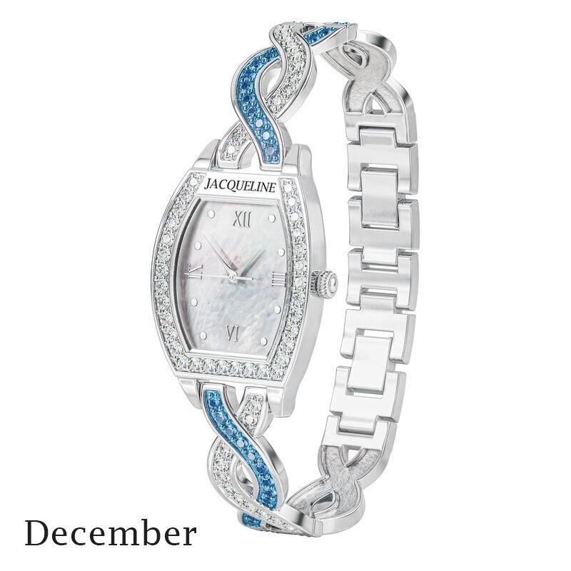 birthstone swirl bracelet watch UK BSWB l december