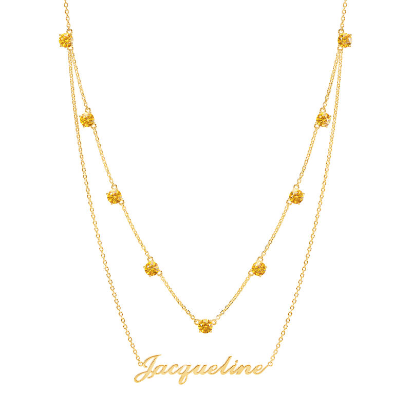 The Birthstone Layered Necklace 6788 0013 a main
