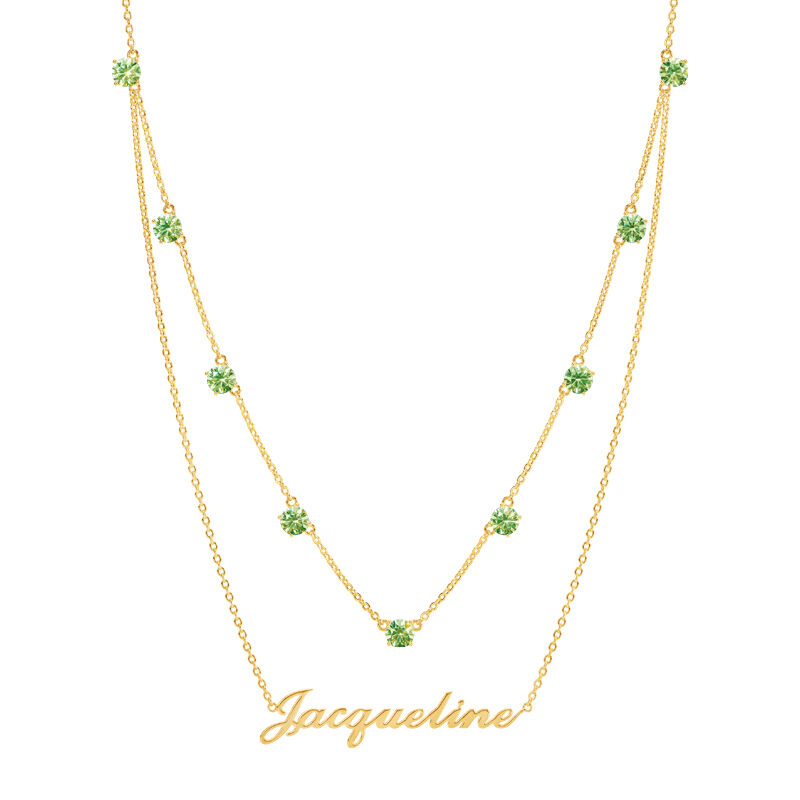 The Birthstone Layered Necklace 6788 001 3 8