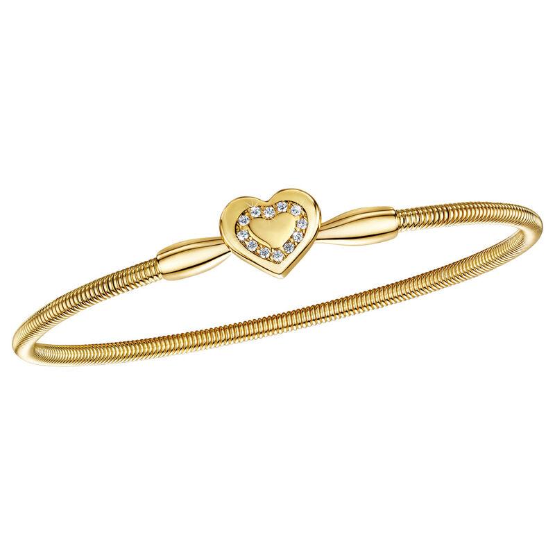 sparkling love heart bangle UK LOHMB a main