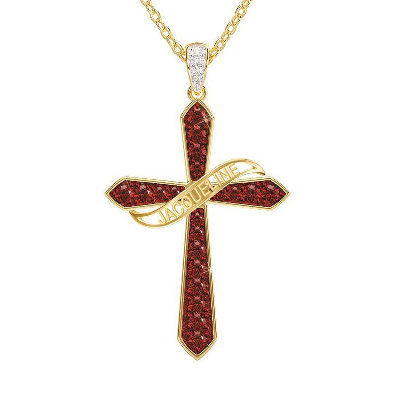 birthstone diamond personalised cross ne UK BSPCN i nine