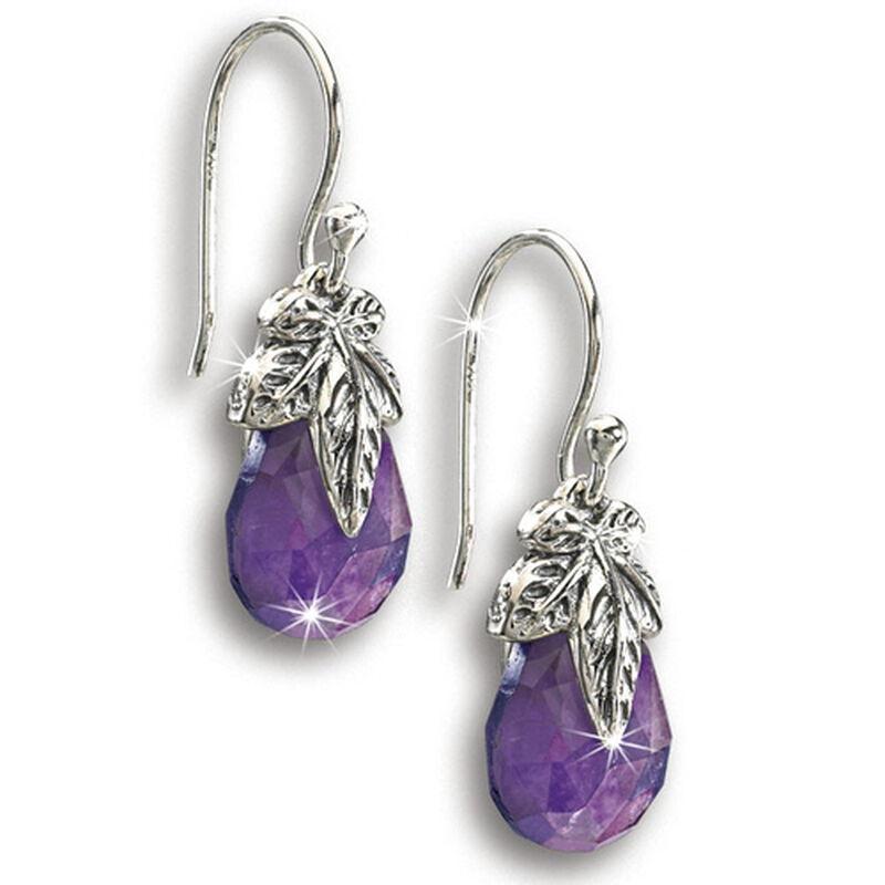 amethyst leaf earrings UK ALEA2 a main
