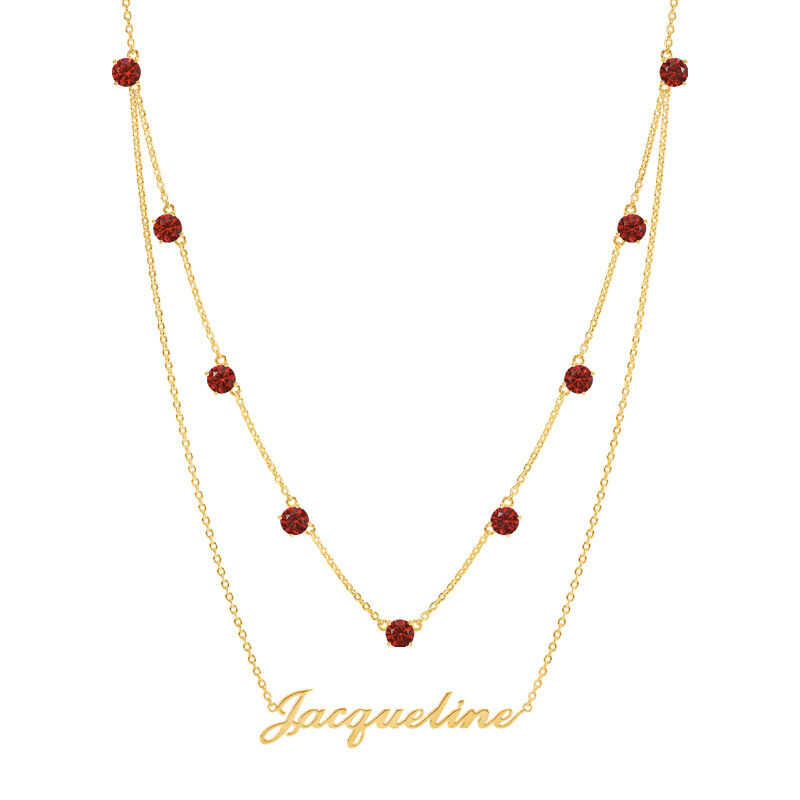 The Birthstone Layered Necklace 6788 001 3 1