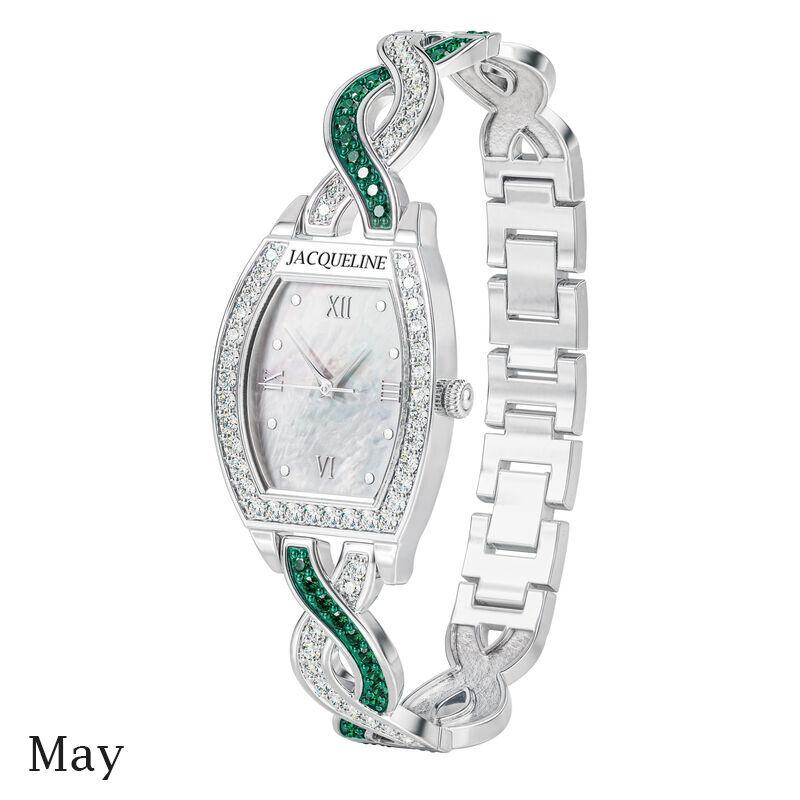 birthstone swirl bracelet watch UK BSWB e may