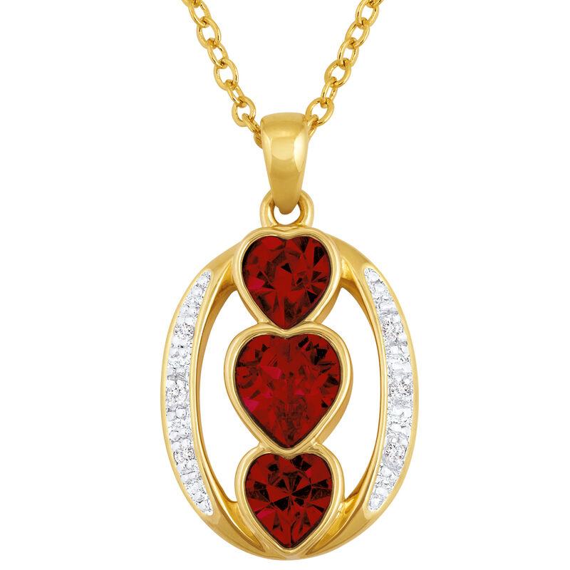 i love you birthstone pendant UK ILYBP2 a main
