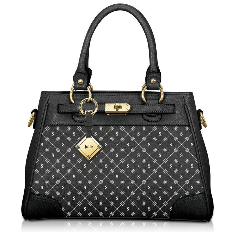my personalised black handbag UK IPBBS a main