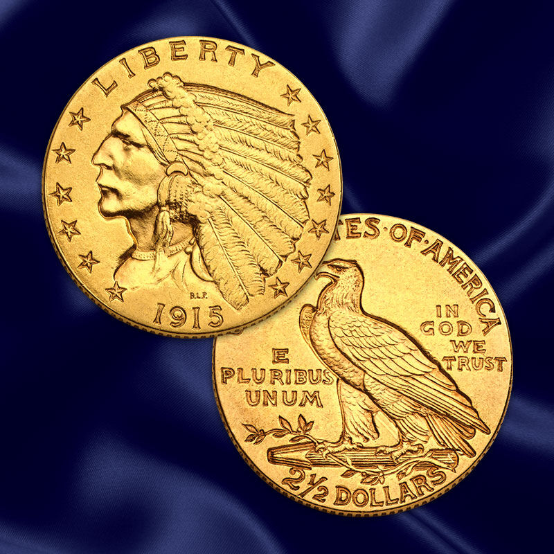 the u s indian head gold coin collection UK GHI g seven