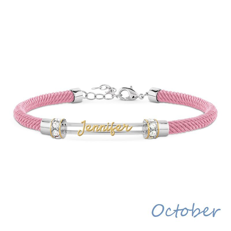 personalised birthstone rope bracelet UK PBRB2 k eleven