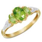 peridot diamond ring UK PPPR a main