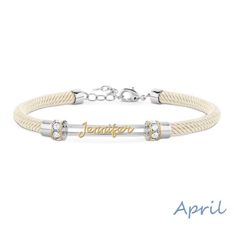 personalised birthstone rope bracelet UK PBRB2 e five