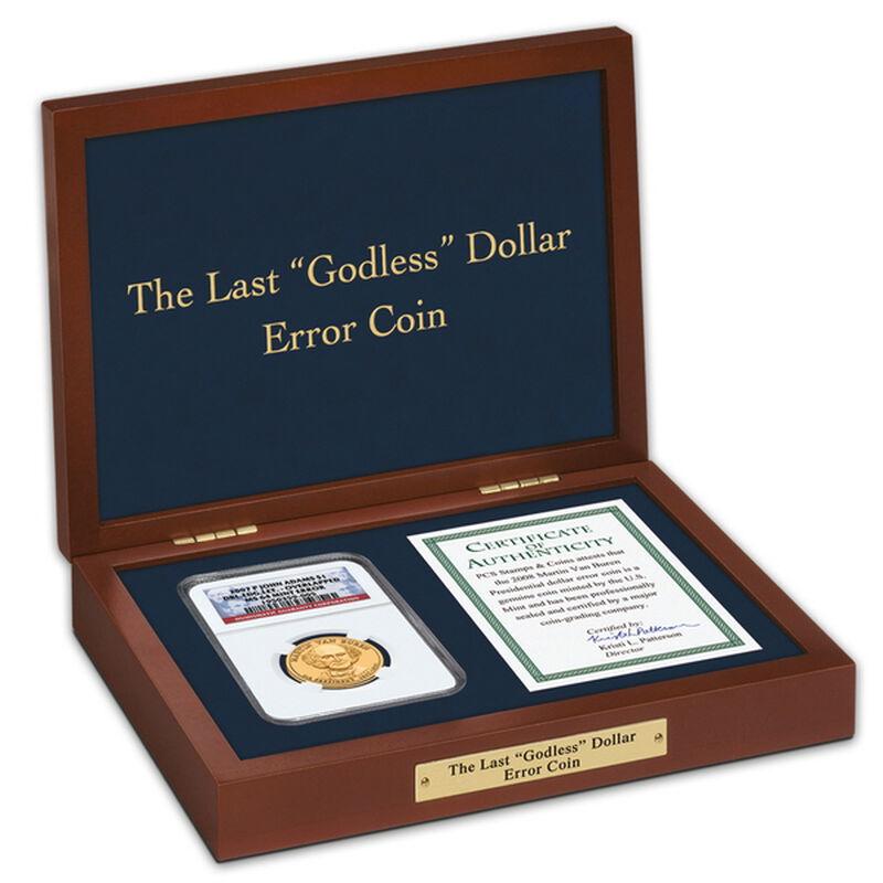 the last godless dollar error coin UK LGDEC b two