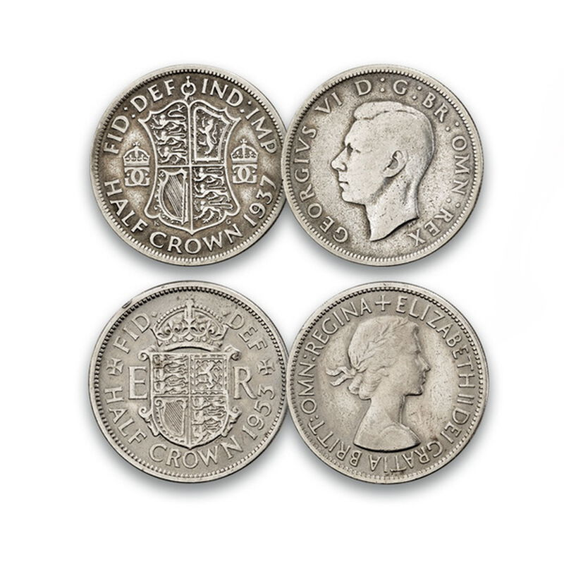 the last of the half crowns coin collect UK LHCX a main