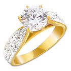 white fire solitaire ring UK WFSOR2 a main