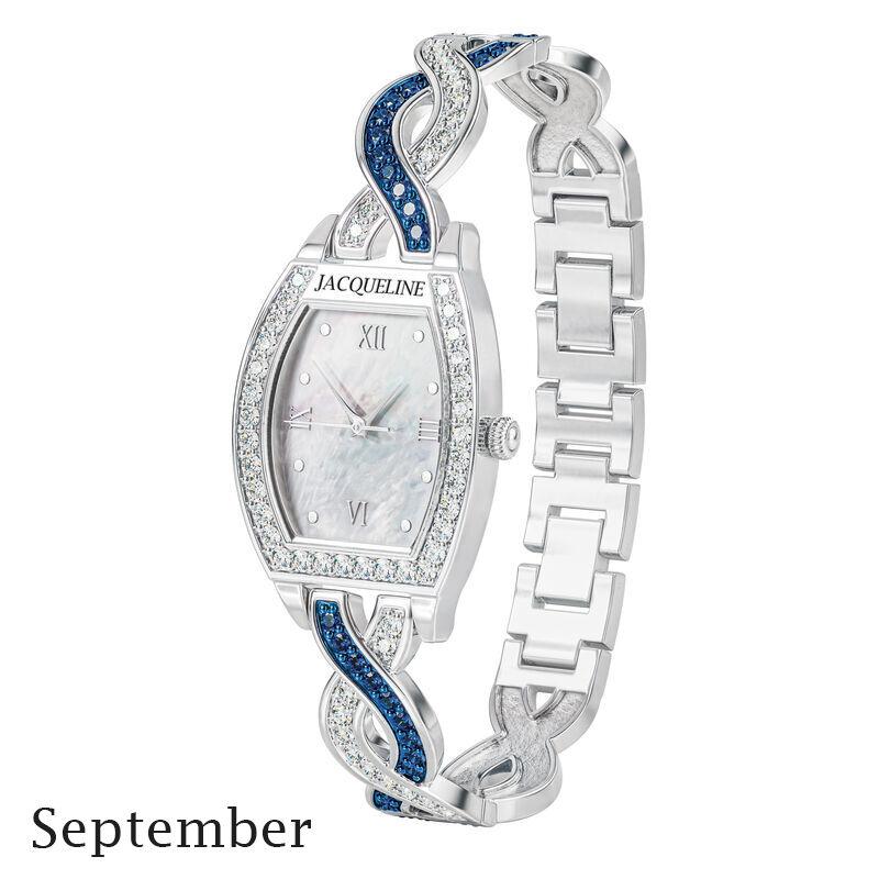 birthstone swirl bracelet watch UK BSWB i september