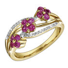ruby blooms 9ct gold ring UK RBGR a main