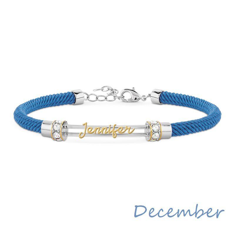 personalised birthstone rope bracelet UK PBRB2 m thirteen