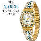 the birthstone personalised stretch watc UK BPSW c three