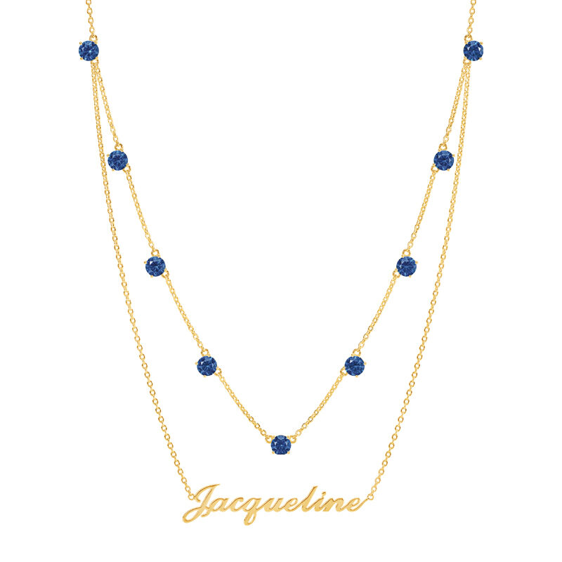 The Birthstone Layered Necklace 6788 001 3 9