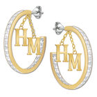 personalised initial inside out hoop ear UK PIHE a main
