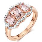 trilogy morganite and diamond ring UK TMDR a main