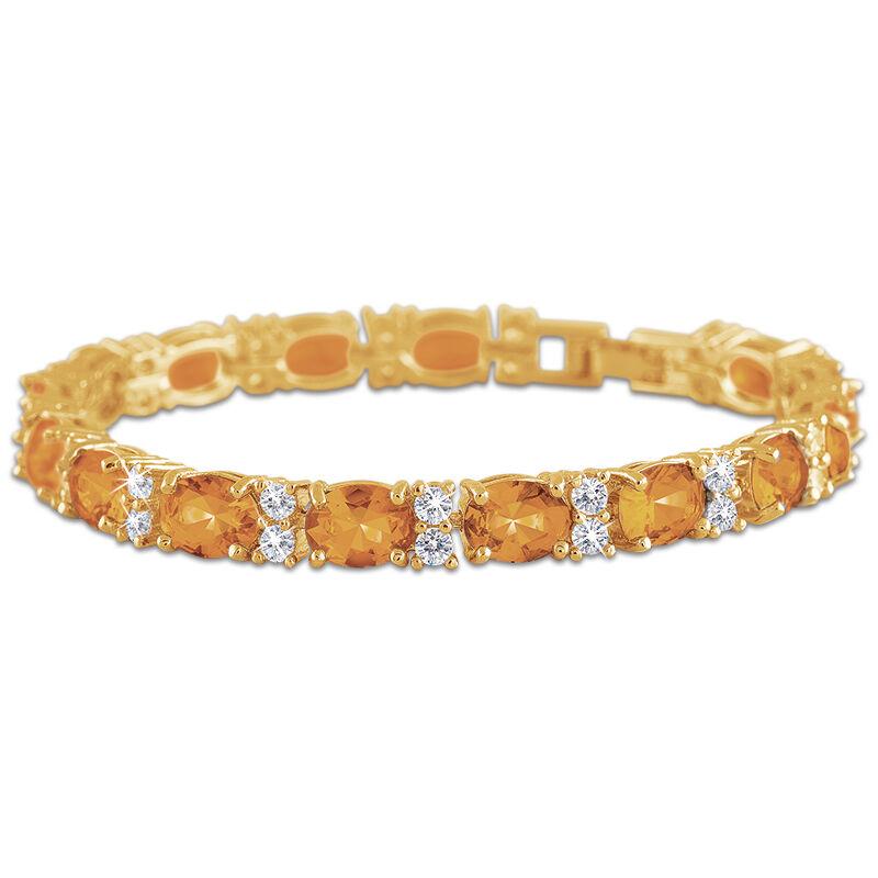 birthstone tennis bracelet UK BDTB2 l twelve