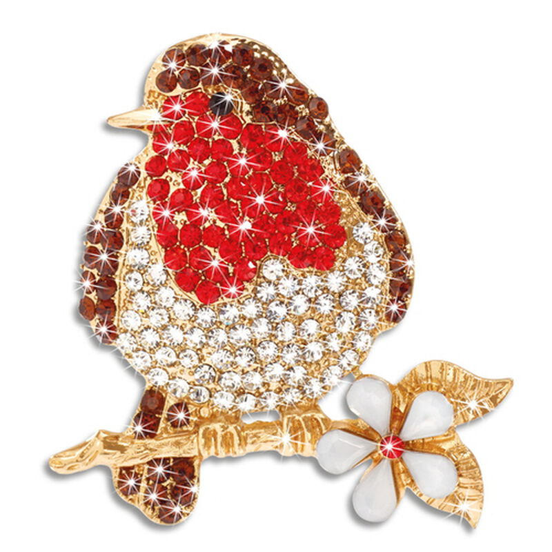 crystal robin brooch UK CROBR2 a main