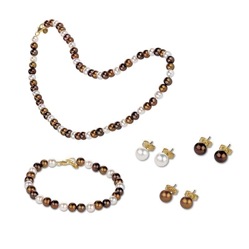 chocolate pearl jewellery box UK CPJB2 a main