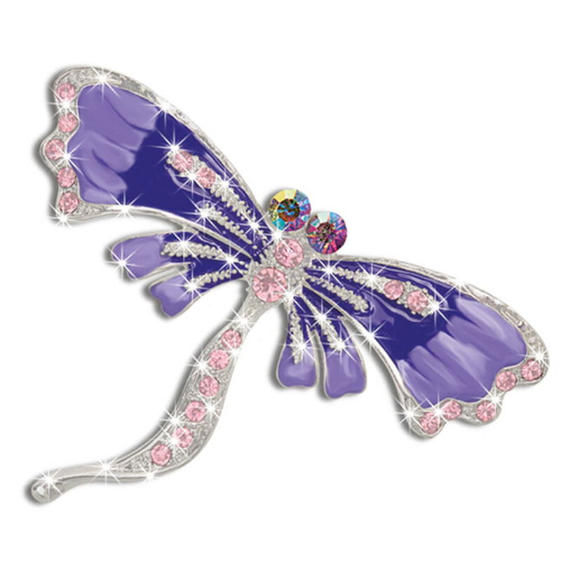 purple passion dragonfly brooch UK PPDB a main