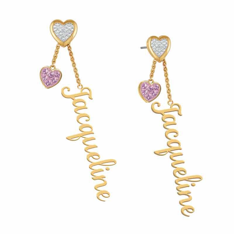 personalised birthstone earrings UK PBEAR i nine