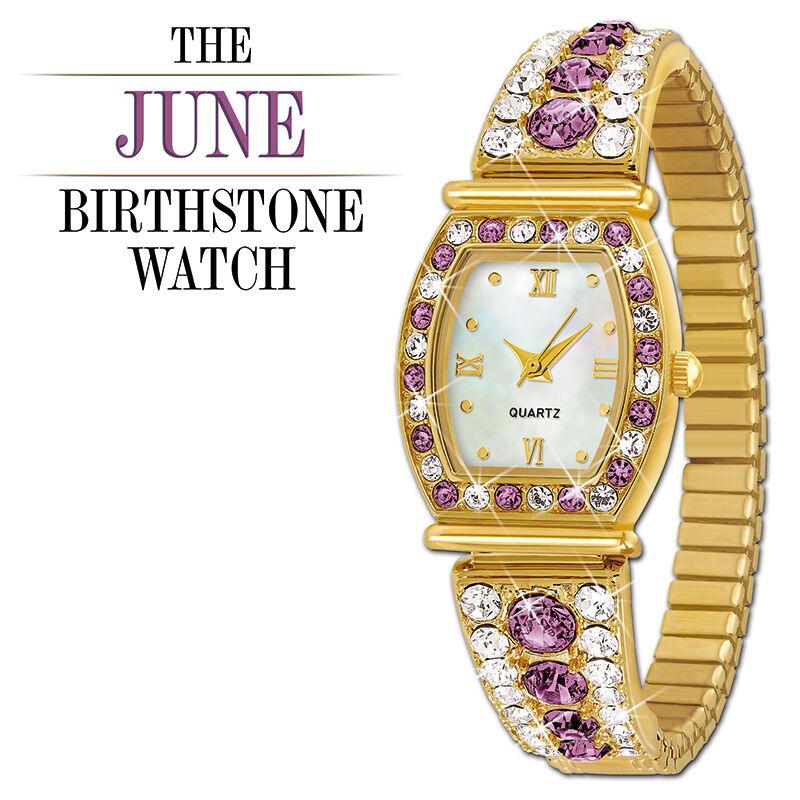 the birthstone personalised stretch watc UK BPSW f six