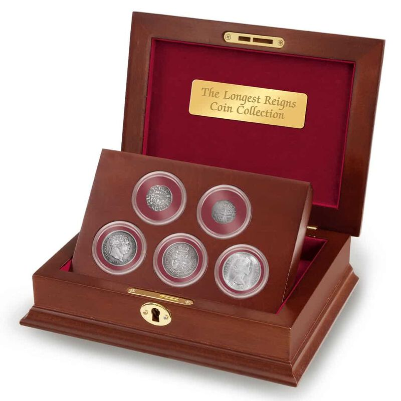 the longest reigns coin collection UK LRMC b two