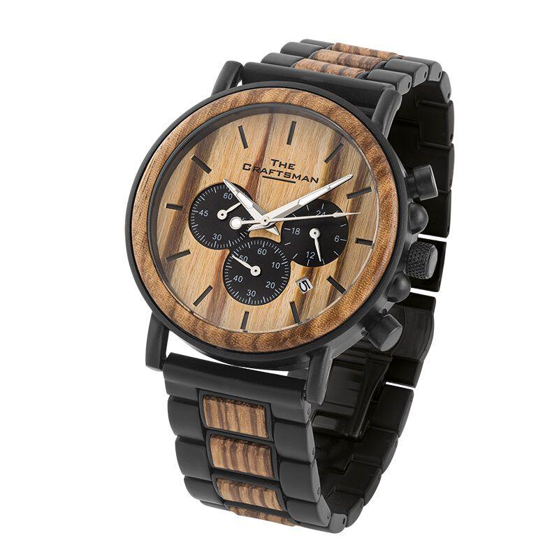 the craftsman mens wooden chronograph wa UK MWCW a main