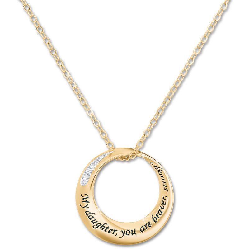 daughter infinity circle diamond pendant UK DICDP b two